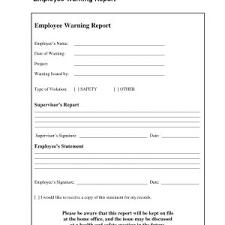 Employee Warning Letters Template Warning Letter Template For Employees Inspirationa Employee Written