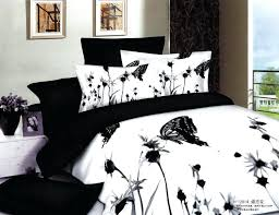 simple and decent bedding sets of high quality with flowers and erflies king size black and