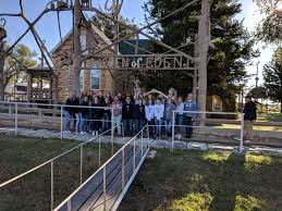 the art garden and spanish clubs headed to lucas kansas to tour the garden of eden and the second best public restroom in the usa