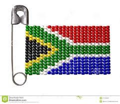 Beaded Safety Pin Designs South African Zulu Bead Flag Stock Illustration