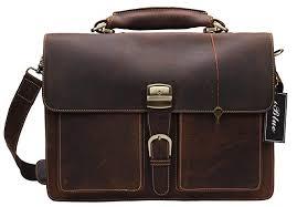 iblue leather messenger bag mens vintage business laptop briefcases dark brown 7164r
