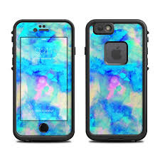 iphone lifeproof case. lifeproof iphone 6 fre case skin - electrify ice blue iphone