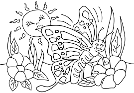 Spring Coloring Pages To Print Coloring Pages For Kids
