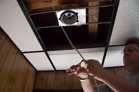 stylish diy recessed lighting installation in a drop ceiling ceiling drop ceiling can lights decor