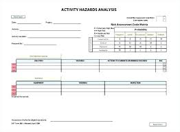 Job Safety Analysis Template Free Classy Jsea Template Free Sample Form Jsa Template Free Download