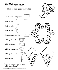 Small Picture Cut out Snowflakes Activity Sheet Santa Activity Sheet