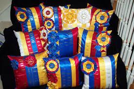 Keepsake Ribbon Quilts - Ribbon Pillows & Centenniel Show Award Pillows Adamdwight.com