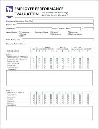 Employee Review Form Template Performance Review Form