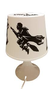 hand decorated table lamp harry potter