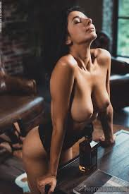 Hot Naked Brunette Nadine With Round Boobs