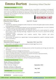teachers resumes examples elementary school teacher resume examples 2017