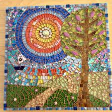 mosaic tree mosaic mosaic wall art