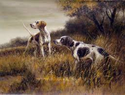 hunting dog oil painting 02