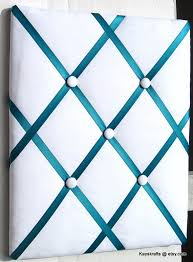 White French Memo Board Enchanting Turquoise Ribbon And White Memory Board French Memo Board With