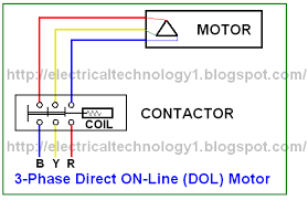direct on line starter  schematic and circuit diagramdirect on line starter  schematic and circuit diagram