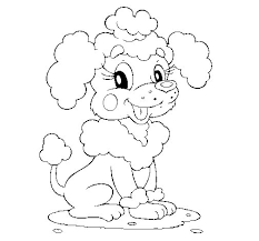 Small Picture Poodle coloring page Coloringcrewcom