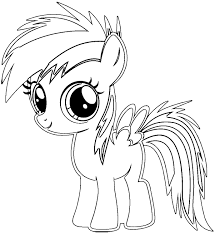 Rainbow Dash Coloring Pages Free With My Little Pony Rainbow Dash