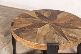 round wooden coffee table peppermill