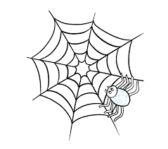 web drawing how to draw how to draw a spider web with spider in a few easy steps