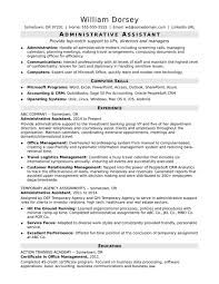 Free Sample Executive Administrative Assistant Resume Universal