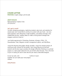 Graphic Design Job Cover Letter Letters Font
