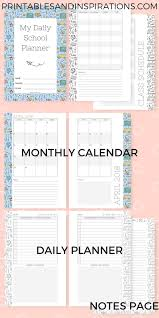 Student Daily Planner Daily School Planner For Kids Free Printable Printables And