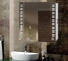 Bathroom Lighted Bathroom Mirror Cabinet Incredible Intended