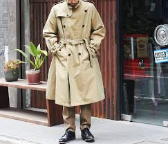 auralee made in japan finx chambray big trench coat a7ac01cg coat