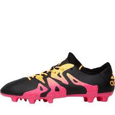 adidas mens x 15 2 fg ag football boots core black shock pink solar