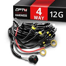 amazon com opt7 12 gauge 500w quad 4 way wiring harness w switch opt7 12 gauge 500w quad 4 way wiring harness w switch for led light bars
