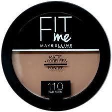 maybelline fit me matte poreless pressed powder foundation 110 fair ivory