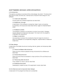 What Is Project Design Document Project Design Specification Docsity