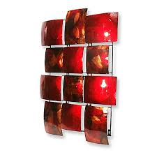 red 12 rectangle metal wall art on red metal wall art bed bath and beyond with red 12 rectangle metal wall art bed bath beyond