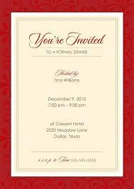 Formal Dinner Invitation Sample Inspiration Formal Dinner Invitations Bino48terrainsco