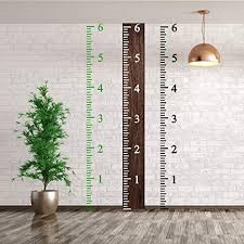 Diy Height Chart 6 Feet Height Growth Chart Stencil Kids Reusable Ruler Template Painting On Wood Diy French Country Home Decor Rustic Decor For Farmhouse Measuring