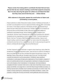 religion and world peace essay year hsc studies of religion  religion and world peace essay