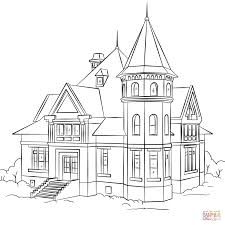 Small Picture Victorian House coloring page Free Printable Coloring Pages
