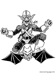 Spiderman green goblin coloring page. Spider Man Green Goblin Enemy Colouring Page Coloring Pages Printable