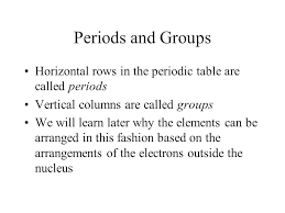 Periodic Table This table is a remarkable way to show the many ...