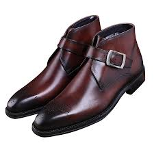 fashion goodyear welt shoes brown tan black mens ankle boots genuine leather dress boots mens dress shoes with buckle womens ankle boots leather boots for