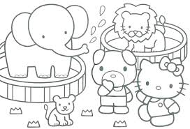 Zoo Coloring Pages Kindergarten Page Animal For Preschool Animals