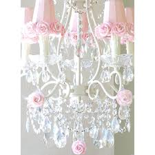 5 light chandelier 5 light chandelier with pink rose shades thumbnail 1 azha 5 light crystal