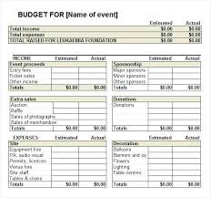 Event Plan Budget Convention Template Meeting Format And Ustam Co
