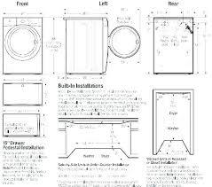 Washer And Dryer Sizes Chart Dryer Depth Juegosdebillar Co
