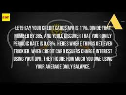 how credit cards interest calculated how do you calculate interest on a credit card youtube