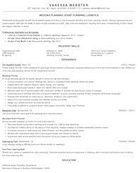 Event Planner Resume Summary Event Planner Sample Resume Resume