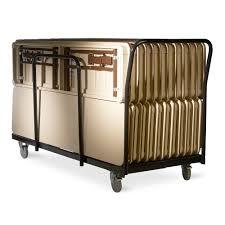 edge stack trestle table cart