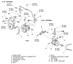 1993 ford escort 1 9l mfi sohc 4cyl repair guides power exploded view of the power steering pump 1999 2003 galant 2 4l engine