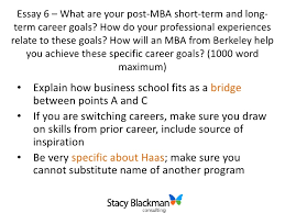 breakdown of haas mba admissions essays student always self awareness intellectual vitality 10