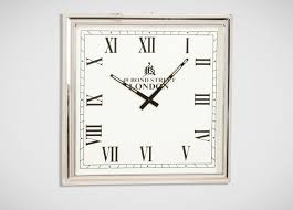 nickel square wall clock  clocks